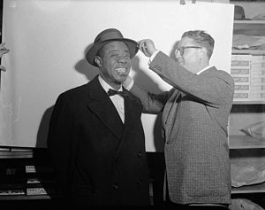 Hatter Sam Taft with Louis Armstrong, Toronto,...