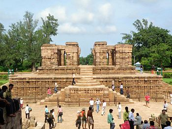 The Sun Temple at Konark is a 13th cent temple...