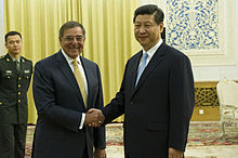 Xi Jinping at a meeting with United States Secretary of Defense Leon Panetta on 19 September 2012.