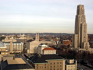 English: Cathedral of Learning, Heinz Memorial...