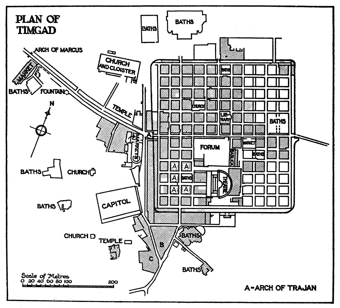 File:Plan of Timgad in Haverfield's Ancient Town Planning