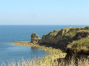 Modern day view of Pointe du Hoc, Normandy