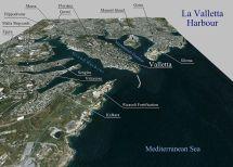 Grand Harbour Valletta Malta Map