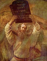 Moses with stone tablets
