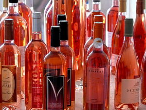 Several French rose wines from the Rhone Valle...