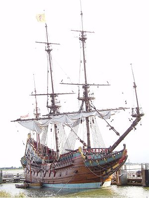 Ship Batavia - replica - in the Netherlands