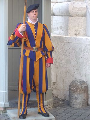 English: Swiss Guard, Vatican.