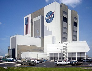 English: NASA's Vehicle Assembly Building as s...