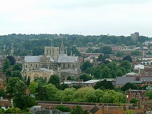 Winchester, Hampshire from St Giles' Hill
