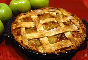 Apple pie has been consumed in England since t...