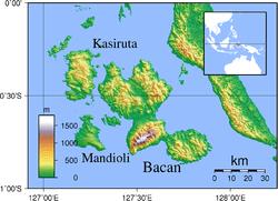 Pulau Bacan  Wikipedia bahasa Indonesia ensiklopedia bebas