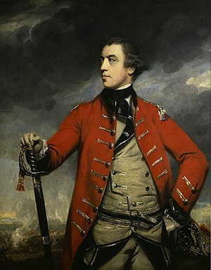 Portrait of British General John Burgoyne.