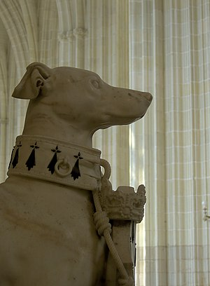 Statue of the sighthound (one of the symbolic ...
