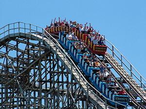 Gemini at Cedar Point is a steel hybrid roller...