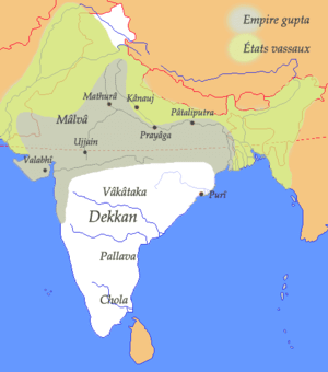 Pataliputra as a capital of Gupta Empire. Appr...