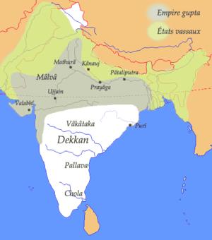 Pataliputra as a capital of Gupta Empire. Appr...