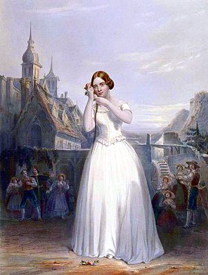 The 19th century singer Jenny Lind depicted pe...