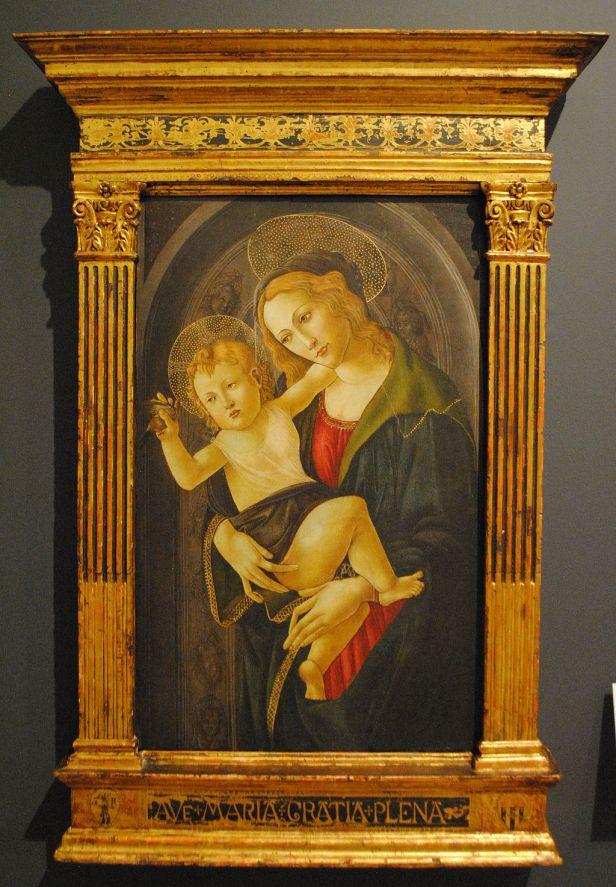 La Virgen y el Niño en un nicho, Sandro Botticelli y taller 01
