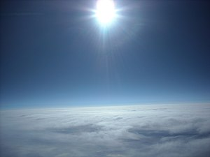 Español: Atmósfera de la tierra.