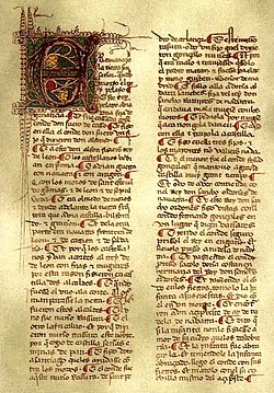 Manuscrito de las Mocedades de Rodrigo