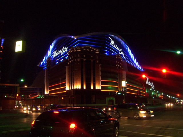 MotorCity Casino at night