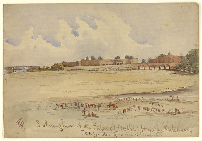 File:Salimgarh Fort and the Red fort palace.jpg