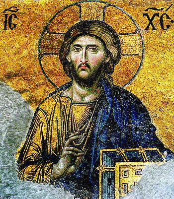 Christ Pantocrator, detail of the Deesis mosaic