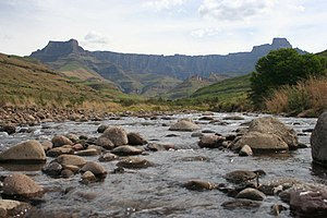 View of the Drakensberg amphitheatre as from t...
