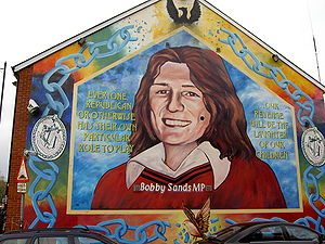 A mural dedicated to republican hunger striker...