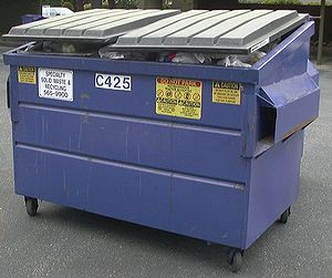 A typical dumpster in Sunnyvale, California.