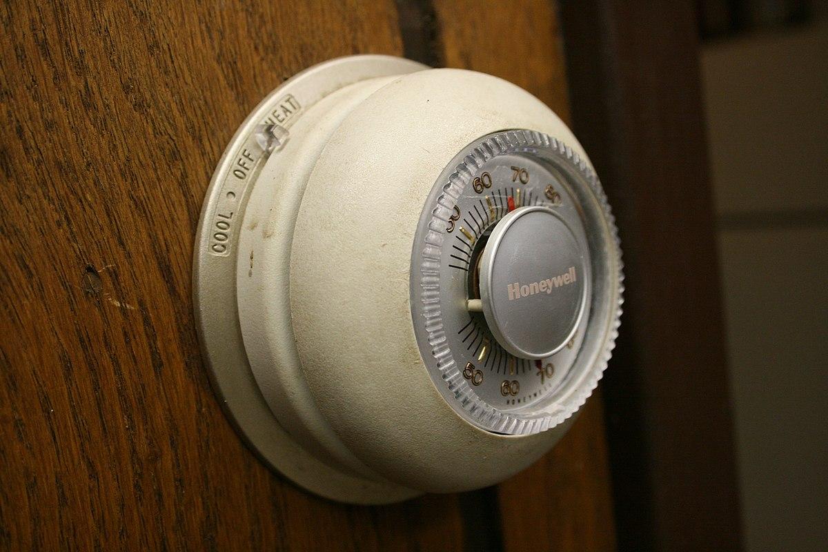 old honeywell room thermostat wiring diagram 2006 f150 mirror منظم حراري ويكيبيديا الموسوعة الحرة