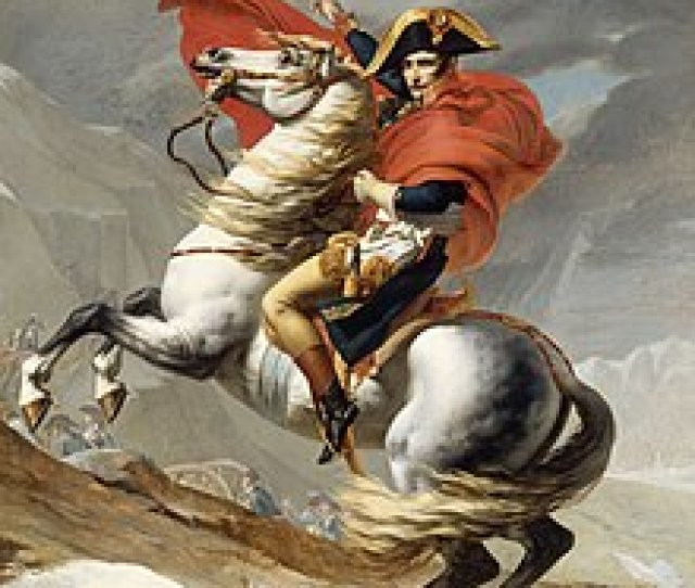Napoleon Crossing The Alps Romantic Version By Jacques Louis David In 1805
