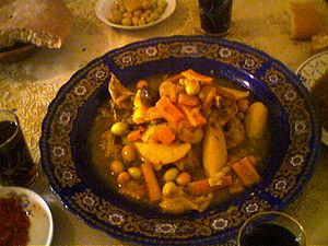 Moroccan Chicken tagine with Olives