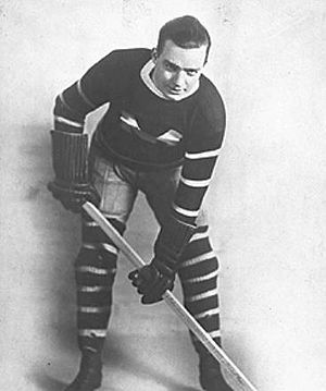 Nels Stewart in a Montreal Maroons uniform.