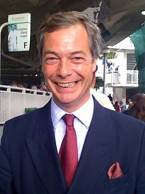 Nigel Farage at Lord's cricket ground, London,...