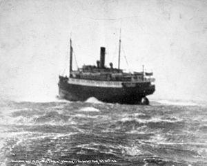 English: Princess Sophia (steamship) on Vander...