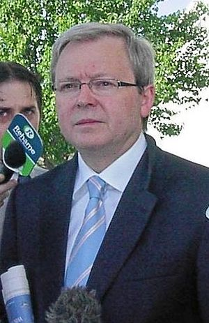 English: Kevin Rudd on Novembre 2005. Français...