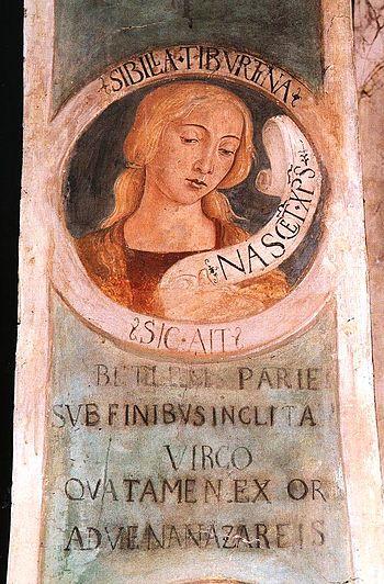 Italiano: La Sibilla Tiburtina, 1483, affresco...