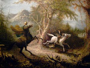 The Headless Horseman Pursuing Ichabod Crane. ...