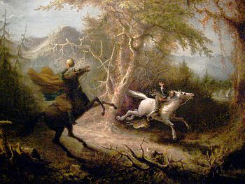 The Headless Horseman Pursuing Ichabod Crane. ...