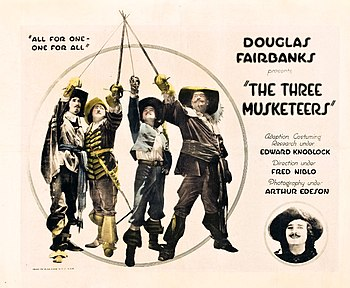 English: Poster for The Three Musketeers (1921...