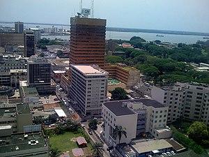 Vue aérienne Abidjan Plateau (Côte d'Ivoire)