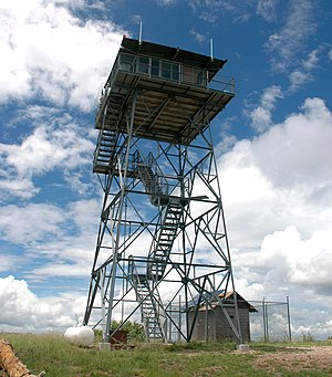 English: U.S. Forest Service fire lookout towe...