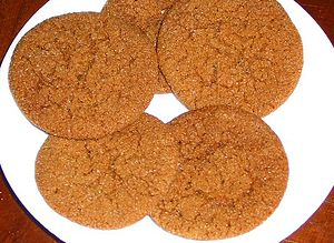 English: Chewy Ginger Cookies See Recipe Photo...