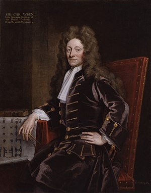 Sir Christopher Wren in Godfrey Kneller's 1711...