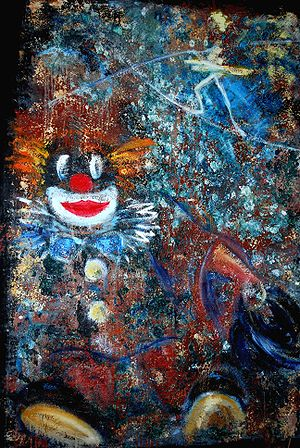 The Clown and the tightrope walker, Painter:He...