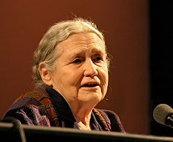 Doris Lessing at lit.cologne 2006, from Wikipedia