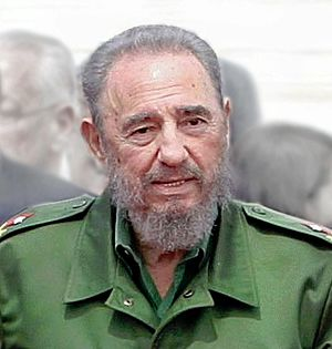English: The Cuban leader Fidel Castro. Españo...