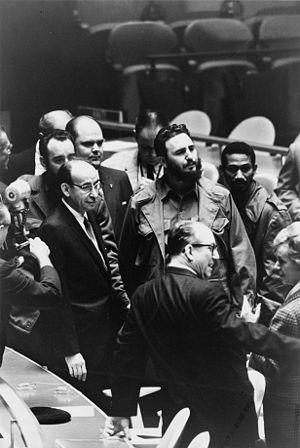 Ο Fidel Castro, Πρόεδρος της Κούβας, Castro στην Γενική Συνέλευση του ΟΗΕ, το 1960.