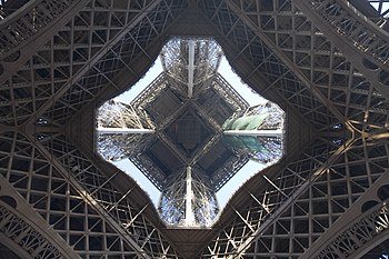 English: The Eiffel Tower from below.